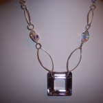 Mirror Reflection Marquis Necklace