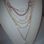 Multi-Strand Pearl, Swarovski Crystal and Crystal Quartz Tassel Necklace