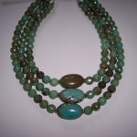 Triple Strand Natural Turquoise Necklace