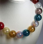 Multi-colored Globe Necklace