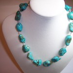 Chalk Turquoise Nugget Necklace