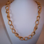 Large Twisted Cable Loop Necklace