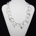 Swarovski Crystal Pearls on Looped Chain Necklace