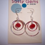 Ruby Jade Double Orbit Earring