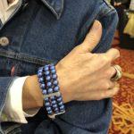 Blue Swarovski Crystal Pearl Triple Bracelet