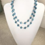 Aquamarine Double Tied Wire Necklace