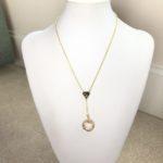 Gold Swarovski Crystal Cosmic Ring on Gold Tone