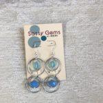 Firefly & Blue Czech Glass Double Orbit Earrings