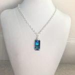 Blue Urban Swarovski Crystal Pendant on Sterling
