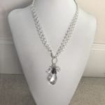 Sterling 3-1 with Helix Silver Shade Swarovski Crystal Pendant