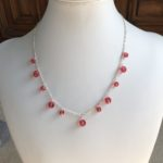 Pink Swarovski Crystal Tin Cup Necklace