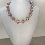 Copper Ball Collar Necklace