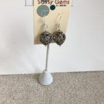 Pewter Filigree Ball Earrings