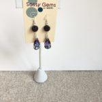 Druzy Agate and Swarovski Crystal Teardrops Earrings
