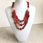 Bamboo Coral Triple Necklace
