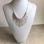 Silvertone Fan Necklace