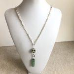 Fresh Water Pearl & Adventurine Piggy Back Necklace