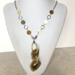 Horn Coins with Horn Hoop Pendant Necklace