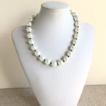 White Faux Pearl Collar Necklace