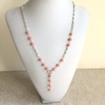 Bamboo Coral Waterfall Necklace