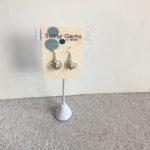 Mini Orbit Swarovski Crystal Pearl Earrings