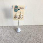 Double Orbit Swarovski Crystal Pearl Earrings