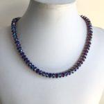 Amethyst Swarovski Crystal Shimmer Necklace