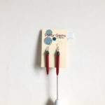 Red Coral Needle Earrings