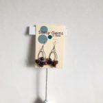 Multi Color Cluster Hoop Earrings