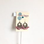 Chandeliers with Vintage Rose Stone Earrings