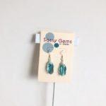 Light Blue Meteor Swarovski Crystal Earrings