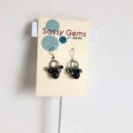 Black Swarovksi Crystal Cluster Earrings