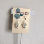 Clear AB Swarovski Crystal Cluster Earrings