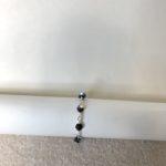 Black AB Swarovski Crystal Tie Wire Bracelet