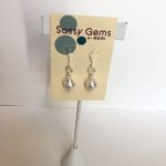 White Swarovski Crystal Pearl Earrings