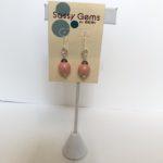 Coral Swarovski Crystal  Earrings