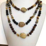 Triple Semi-precious stone Necklace